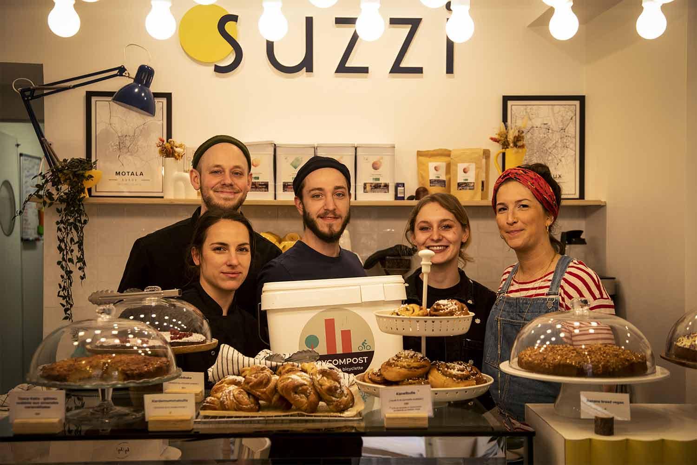 Café Suzzi client de BicyCompost