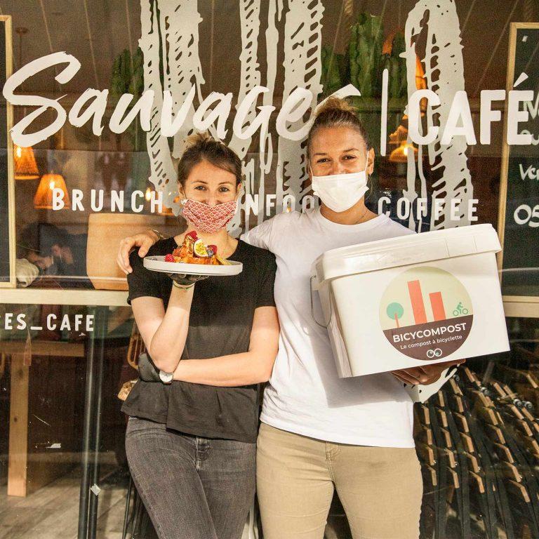 Sauvage café client de BicyCompost